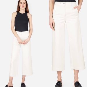 EVERLANE | The Wide Leg Crop White Pants Size 2